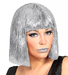 Galaxy Weltraum Spacegirl silberfarbige Perücke Disco Gogo