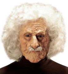 Großvater Opa Opamaske Opaperücke alter Mann Greis Maske + Haar