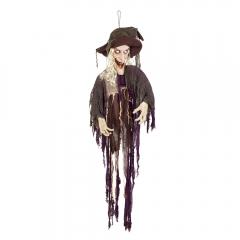 Halloweenfigur Halloweendekoration lachende Hexe Sound Licht Bewegung