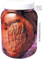 Herz künstliches Herz im Reagenzglas Horror Dekoration Halloween