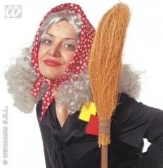 Hexe Hexenperücke Perücke mit Kopftuch Oma alte Frau