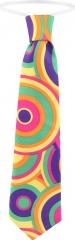 Hippiekrawatte 70er Jahre Krawatte Blumenwiese Partykrawatte