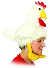 Huhn Hahn im Korb Hühner Mütze Tiermütze Hahnmütze