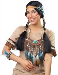 Indianerin Indianer Indianerschmuck Häuptling Squaw Federschmuck
