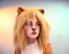 Löwe 2 teiliges Set Löwenhaube und Löwenschwanz