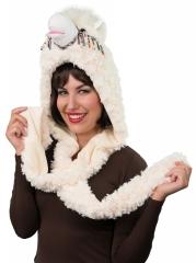 Lama Alpaka Plüschmütze Wintermütze Tiermütze Apres Ski
