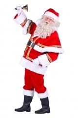 Nikolaus Weihnachtsmann Santa Kostüm Hochwertiger Anzug 4 teilig