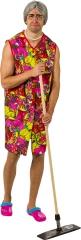 Oma Oma-Kostüm Putzfrau Junggesellenabschied Oma-Kittel + Omaperücke