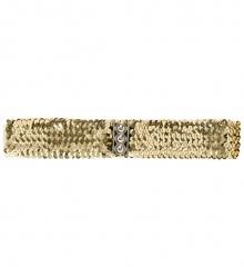 Pailleten-Gürtel Stretchgürtel 80er Jahre silber, gold, schwarz, rot