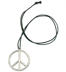Peacezeichen 70er Hippie Metallabzeichen an Band