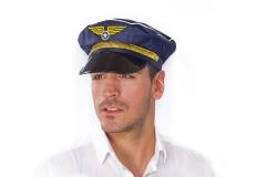 Pilot Pilotenmütze Größenverstellbar Flieger Flugkapitän
