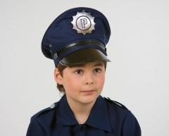 Polizei-Set Polizeimütze Kinderpolizeimütze mit Polizeikelle Police