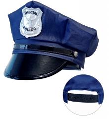 Polizeimütze Kinder Kinderpolizei größenverstellbar Polizeikostüm