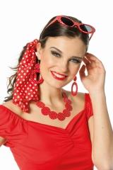 Polka-Dot Ohrringe Peggy Sue Rockabilly Set 50er 60er Jahre Rockn Roll Schmuck