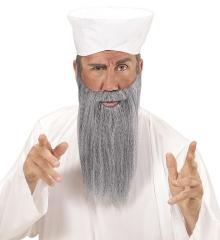 Rabbi Rabbiner Araber Inder Turban und grauer Bart 2 teiliges Set