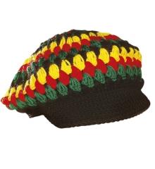 Reggae Häkelmütze Bob Mehrfarbig Jamaika
