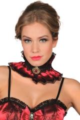 Saloongirl Halsband Kragen Vampir Vampirkragen Edel Rüschen