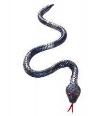 Schwarze biegsame Schlange Mamba Viper Snake täuschend echt