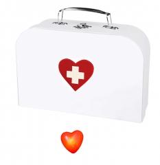 Set Krankenschwester Doktorkoffer Arzt Doktor und Anstecker Blinkherz