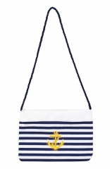 Set Mini Matrosen Matrosin Hut Kappe mit passender Handtasche blau weiss