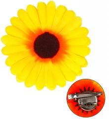 Sonnenblume Haarclip Ansteckblume Gärtner Blume Blüte Kopfschmuck Haarreif Deko