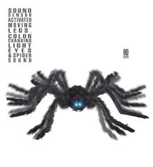 Spinne animierend schwarze Witwe mit Geräusch und Leuchtaugen