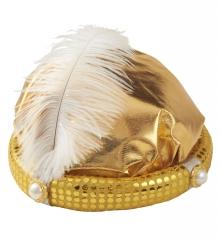 Turban gold Orient Sultan Oelscheich heilige drei Könige