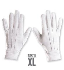 Weiße Handschuhe mit Naht Nikolaus Weihnachtsmann