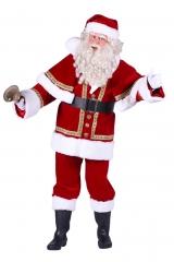 Weihnachtsmann Samt Deluxe mit Umhang Rot Jacke Hose Mütze Gürtel Anzug XL