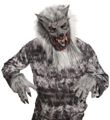 Werwolf Werwolfmaske mit Krallenhände Wolfskrallen Wolfmaske