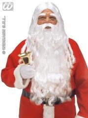 Nikolaus Weihnachtsmann Bart Perücke Augenbrauen Luxus