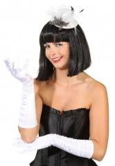 weiße lange Handschuhe Satinhandschuhe Kostümzubehör Schützenfest